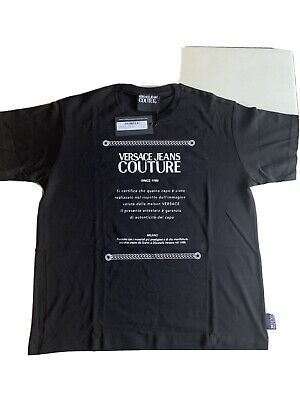 Versace Jeans Couture Black T Shirt Size XXL Brand New  RRP: £99.00