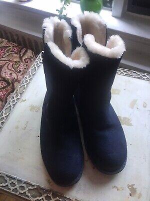 EMU,Australia dark blue boots, 7W,like a New