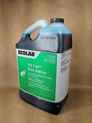 Ecolab Rinse Additive Ro Free 17532 Industrial Dish Dishes Rinse Restaurant 5qt