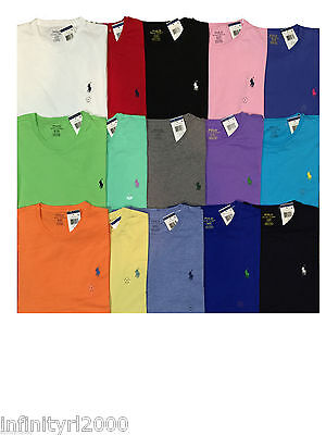 NEW Polo Ralph Lauren Brand New With Tag STANDARD FIT CREWNECK Logo T Tee (Polo Stock)