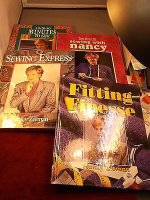 "LOT OF NANCY ZIEMAN SEWING BOOKS ""10-20-30 MINUTES TO SEW"" ""BEST OF"" ""EXPRESS"""