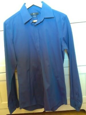 Stretch-baumwolle Hemd (Venti Hemd Herren 38 body stretch Baumwolle uni blau bügelfrei)