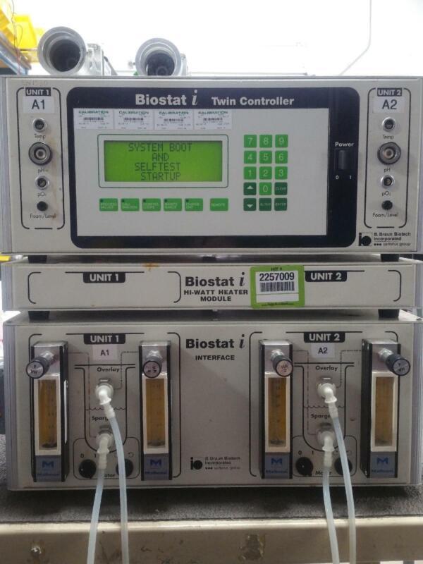 B Braun Biotech Biostat I Fermenter Bioreactor, Controller Interface Heater Mod