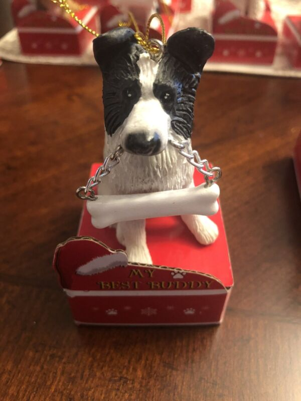 Boarder Collie Christmas Ornament, Personalize, New