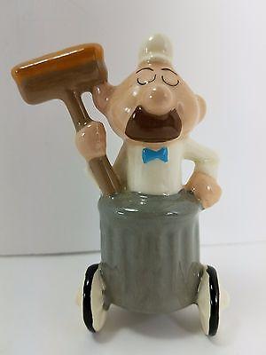 Ceramic Janitor Jay Ward Rocky Bullwinkle Cartoon Figure
