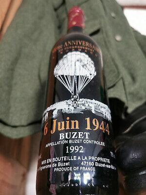 """0,75Ltr Rotweinflasche """"Anniversaire"""" 50 Jahre Invasion Fallschirmjäger 6.6.44"""