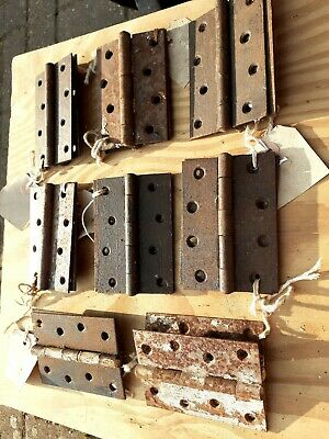 Vintage old Antique Metal Iron Door Hinge 4 Hole 4