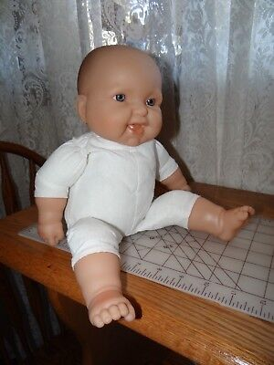 """JC Toys Baby Doll Plastic Soft Body Cotton Realistic Happy 18"""" Berenguer"""
