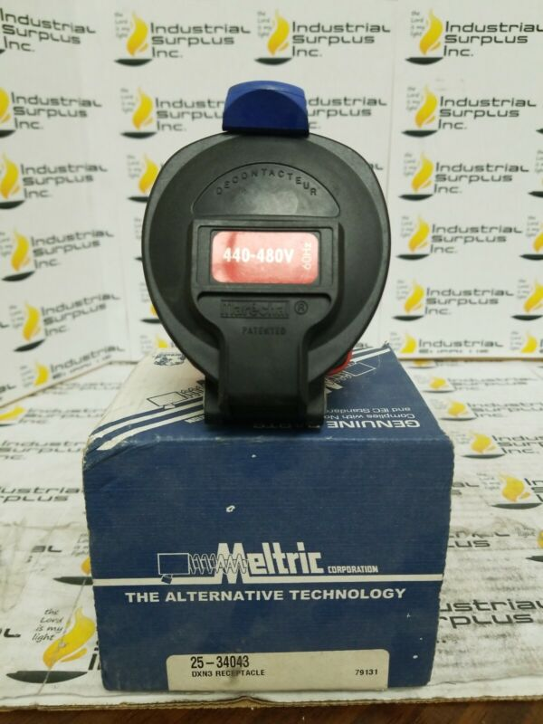 Meltric 25-34043 DXN3 Receptacle *FREE SHIPPING*