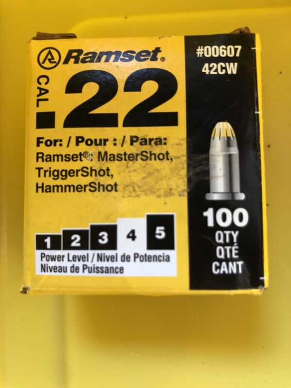 NEW! Ramset .22 in. Dia. x 6.2 in. L Steel Round Head Anchor Bolts 100 pk 00607