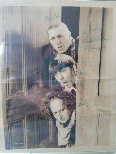 Original 3 Stooges Autograph