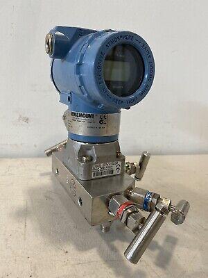 Rosemount 4500psi 3051 Cd3a02b1ae5s5p9q4m5p1 Smart Hart Pressure Transmitter