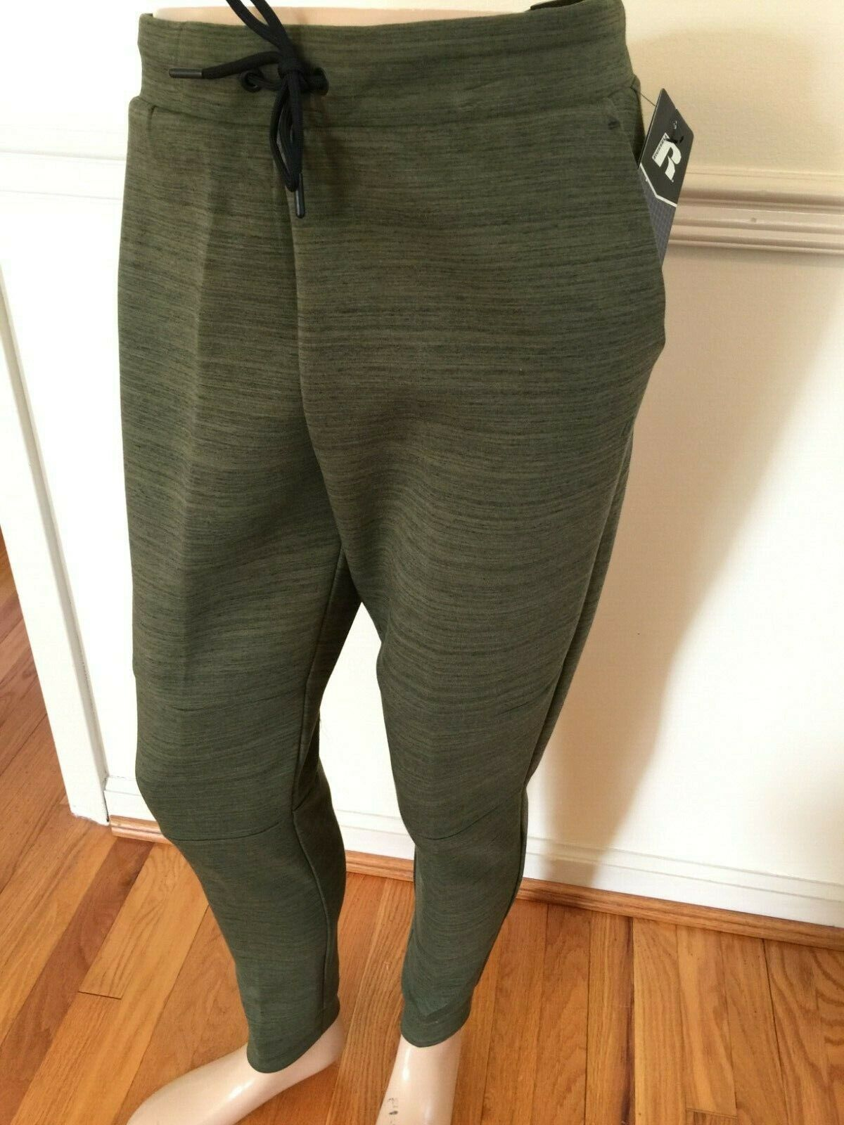 NWT Russell Men Fusion Knit Jogger Pant Green Large Training