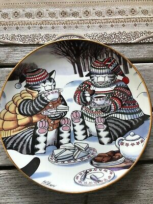 "Kliban Afternoon tea Collectors Plate Danbury Mint A1803 8.25"""