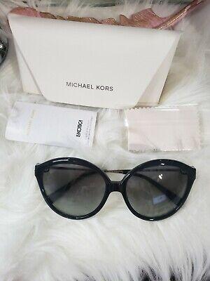 Michael Kors Mykonos Black Round Sunglasses