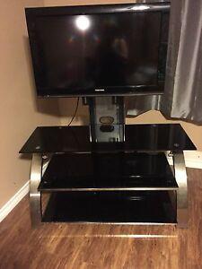 Heavy Duty Glass Swivel TV stand
