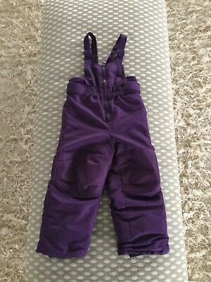 Girls Cherokee Snow Pants Purple Size 3T