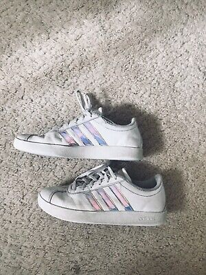 Addidas Sneakers Girls Kids Youth Size 4 White