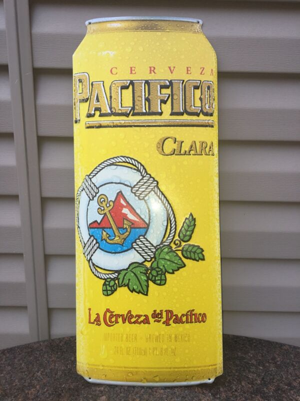 *NEW* PACIFICO CERVEZA - CAN - METAL BEER SIGN (Tin) - AUTHENTIC