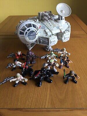 Star Wars Playskool Galactic Heroes, Millennium Falcon Plus 11 Figures