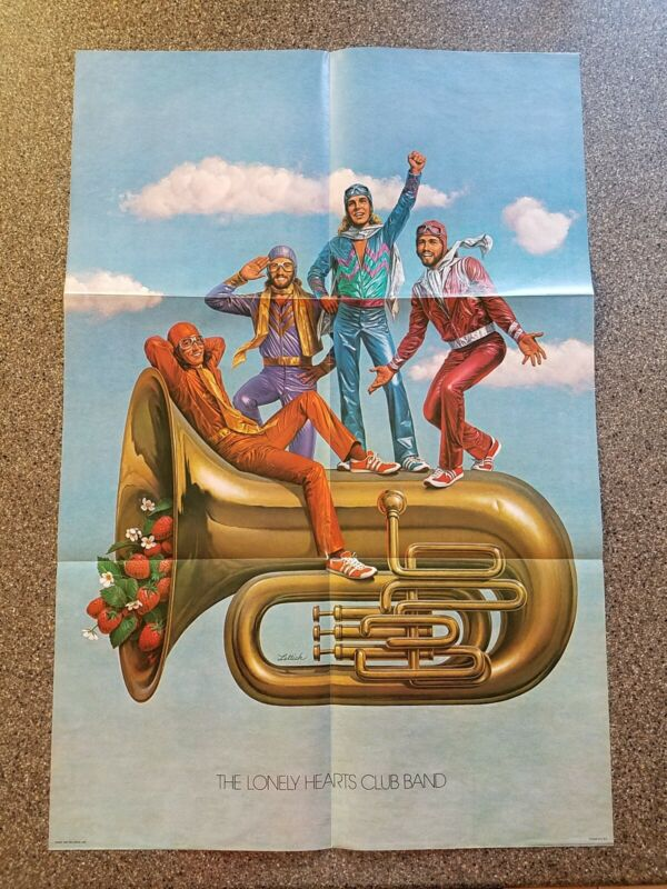 1978 RSO Records Bee Gees The Lonely Hearts Club Band Poster Never Used