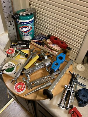 Huge Lot Of Welding Tools And Supplies Stem Wrench Clamps Cleaners Fast Shipped