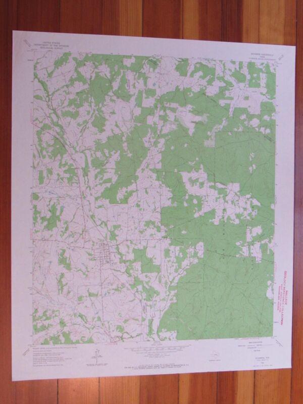 Richards Texas 1964 Original Vintage USGS Topo Map
