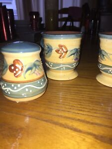 Pottery mugs and shakers