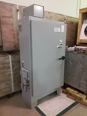 Hoffman A-72xm4018ftc Enclosure Cabinet W 200 Amp 3 Phase Disconnect