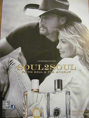 Faith Hill, Tim McGraw, Soul2Soul, Full Page Ad, Fragrance, Perfume, Cologne
