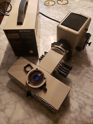 Nikon Labophot Microscope Fluorescence Epi Illuminator With Lamp And Hg Burner