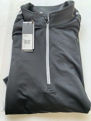 """ADIDAS 3-Stripes Quarter Zip Golf Pullover """"BLACK SIZE LARGE""""  NEW with Labels"""