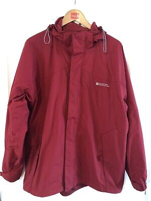 Mens Mountain Warehouse Red Waterproof Coat Size Medium - Good Condition