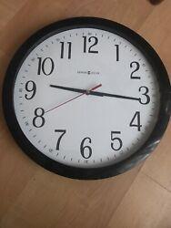 Howard Miller Gallery Wall Clock, 16, Quartz, Black, Each (MIL625166)