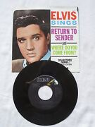 Elvis Return to Sender 45