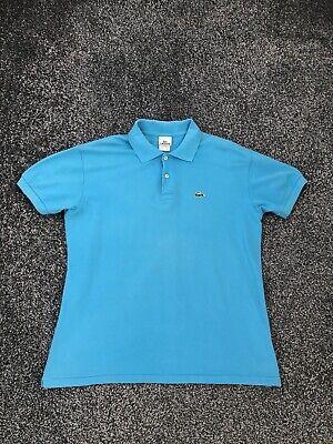 """Lacoste Men's Turquoise Polo Shirt Size 5 Large L Devanlay Ptp 22"""""""