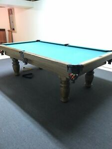 Dufferin Oak Pool Table with Leather Pockets