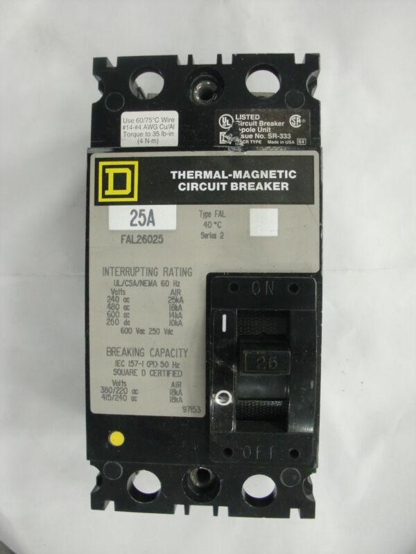 SQUARE D -THERMAL - MAGNETIC CIRCUIT BREAKER FAL26020