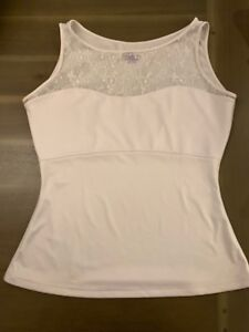 SPANX stretch shaping lace detail tank