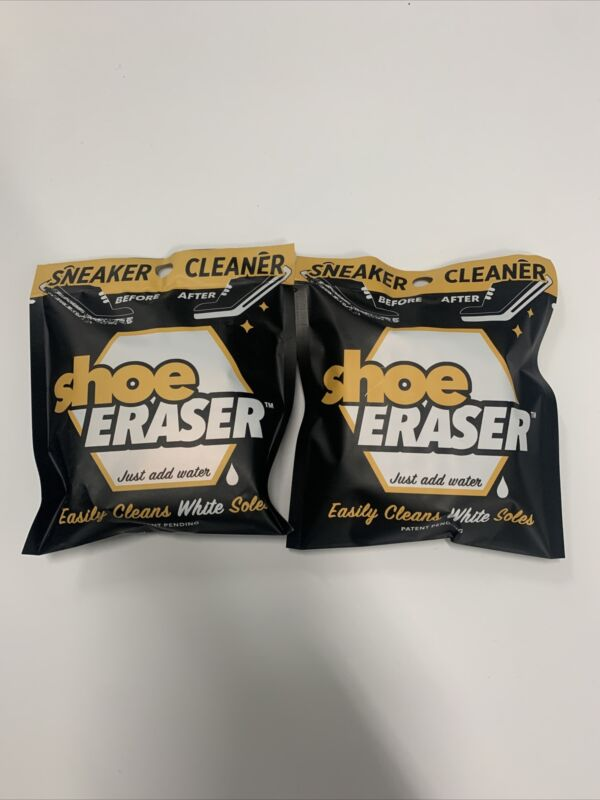 (2) New Shoe Eraser Sneaker Cleaner Easily Cleans White Soles Removes Dirt Grime