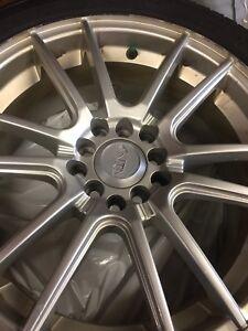 Michelin x ice 225/45/17 on alloy rims