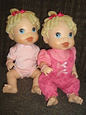 2 BABY ALIVE ALL GONE TALKING DOLL CLOTHES DIAPERS TWINS  for sale  Andover