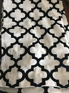 Black & White curtains from Home Depot
