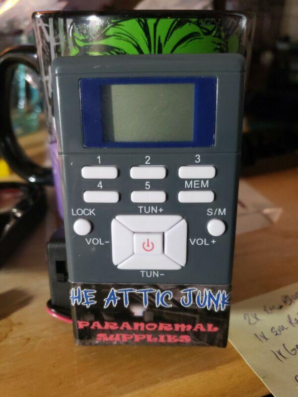 SGhost Spirit Box Radio V-1 Sweep 600-1700MHZ Hacked External Power/Battery Box