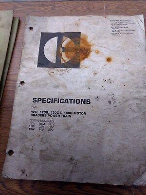 Caterpillar 12g 120g 130g 140g Motor Graders Specifications