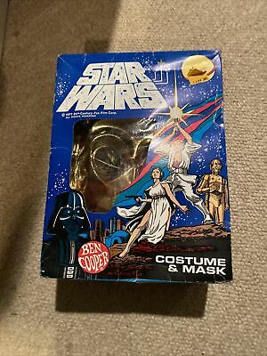 Vintage Star Wars Ben Cooper C-3PO Halloween Costume And Mask