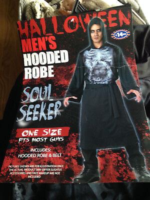Horror Halloween adult Soul seeker hooded robe with - Hooded Herren Kostüme