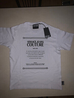 Versace Jeans Couture White T Shirt Size M Brand New