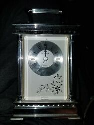Bulova Quartz Mantle Desk Skeleton Movement Clock West Germany