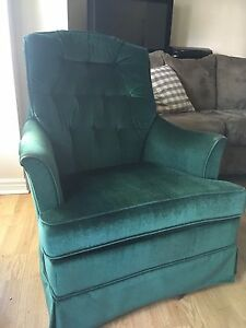 Green Velvet Chair for sale!